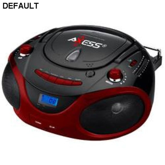 Axess Red Portable Boombox MP3/CD Player with Text Display,with AM/FM Stereo, USB/SD/MMC/AUX Inputs - DRE's Electronics and Fine Jewelry: Online Shopping Mall
