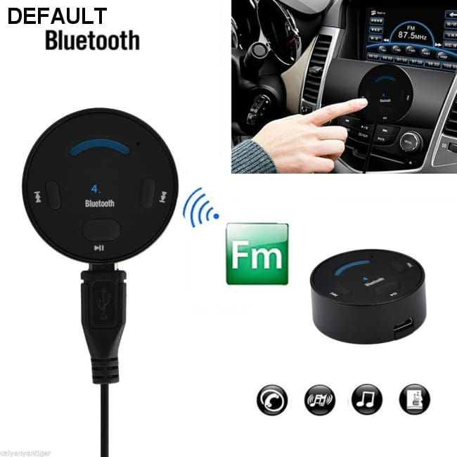 BOLS B6 Bluetooth Car Kit V4.1 Hands Free 2.4GHz Car Bluetooth Music Receiver Bu