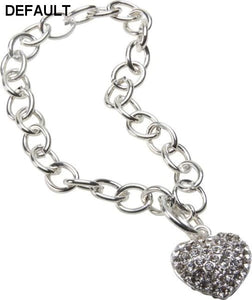 Bret Roberts Crystal Heart Bracelet Jewelry Case Pack 3