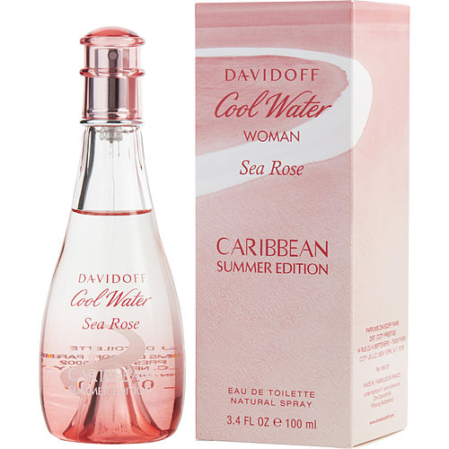 COOL WATER SEA ROSE CARIBBEAN SUMMER by Davidoff EDT SPRAY 3.4 OZ (2018 LIMITED EDITION)