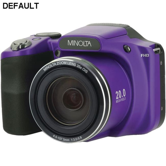 Minolta(R) MN35Z-P 20.0-Megapixel 1080p Full HD Wi-Fi(R) MN35Z Bridge Camera with 35x Zoom (Purple) - DRE's Electronics and Fine Jewelry: Online Shopping Mall