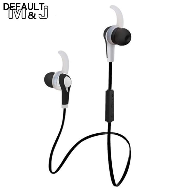 M&J New Wireless Earphone Auriculares Bluetooth Stero Earbuds In ear Earpiece Sport Running Earphone For IPhone Samsung - Black