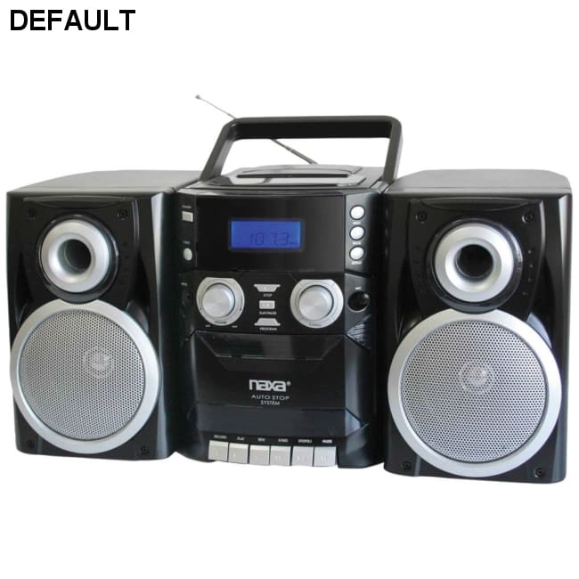 Naxa(R) NPB426 Portable CD Player with AM/FM Radio Cassette & Detachable Speakers