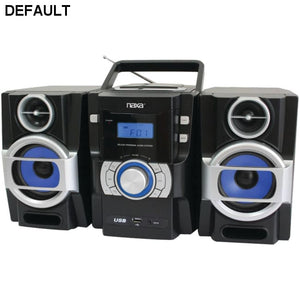Naxa(R) NPB429 Portable CD/MP3 Player with PLL FM Radio Detachable Speakers & Remote