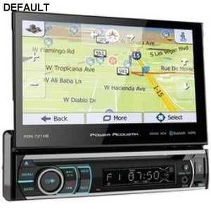 "Power Acoustik 7"" Incite Single-din In-dash Gps Navigation Motorized Lcd Touchscreen Dvd Receiver With Detachable Face & Bluetooth - DRE's Electronics and Fine Jewelry: Online Shopping Mall"