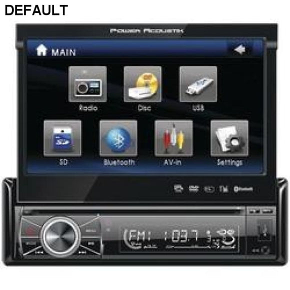 "Power Acoustik 7"" Single-din In-dash Motorized Touchscreen Lcd Dvd Receiver With Detachable Face (with Bluetooth) - DRE's Electronics and Fine Jewelry: Online Shopping Mall"