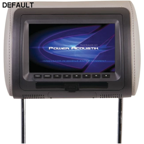 "Power Acoustik(R) HDVD-71CC 7"" LCD Universal Headrest Monitor with DVD, IR & FM Transmitters & 3 Interchangeable Skins - DRE's Electronics and Fine Jewelry: Online Shopping Mall"