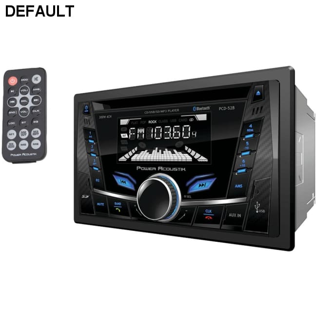 Power Acoustik(R) PCD-52B Double-DIN In-Dash CD/MP3 AM/FM Receiver with Bluetooth(R)
