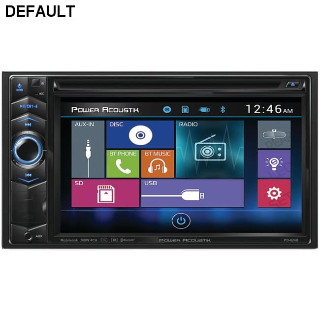 Power Acoustik(R) PD-624B 6.2 Double-DIN In-Dash LCD Touchscreen DVD Receiver with Bluetooth(R)
