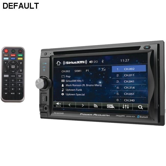 Power Acoustik(R) PD-625XB 6.2 Incite Double-DIN In-Dash Detachable LCD Touchscreen DVD Receiver with Bluetooth(R) (SiriusXM(R) ready)