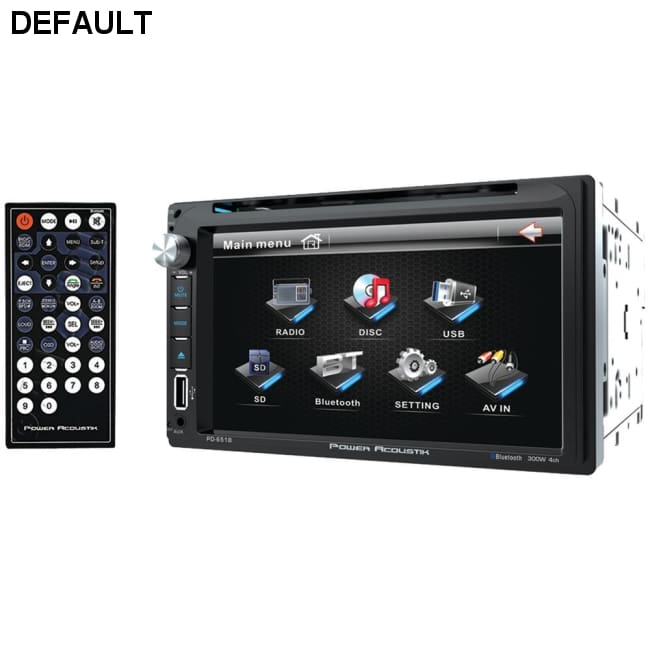 Power Acoustik(R) PD-651B 6.5 Double-DIN In-Dash LCD Touchscreen DVD Receiver (With Bluetooth(R))