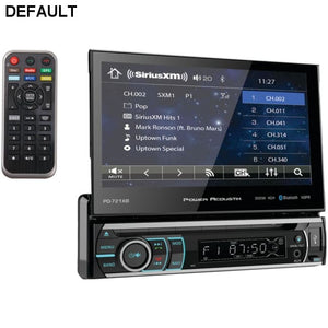 Power Acoustik(R) PD-721XB 7 Incite Single-DIN In-Dash Motorized LCD Touchscreen DVD Receiver with Detachable Face & Bluetooth(R)