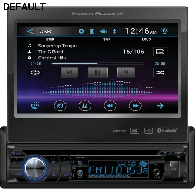 Power Acoustik(R) PD-724B 7 Single-DIN In-Dash Motorized LCD Touchscreen DVD Receiver with Bluetooth(R)