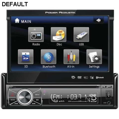 "Power Acoustik(R) PTID-8920B 7"" Single-DIN In-Dash Motorized LCD Touchscreen DVD Receiver with Detachable Face (With Bluetooth(R)) - DRE's Electronics and Fine Jewelry: Online Shopping Mall"