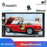 "Podofo Autoradio 2 din Car Radio Multimedia Video Player 7""Auto Stereo Bluetooth MP5 2Din Touch Screen Digital Display USB SD FM - DRE's Electronics and Fine Jewelry: Online Shopping Mall"