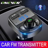 Onever FM Transmitter Aux Modulator Bluetooth Handsfree Car Kit Car Audio MP3 Player with 3.1A Quick Charge Dual USB Car Charger - DRE's Electronics and Fine Jewelry: Online Shopping Mall