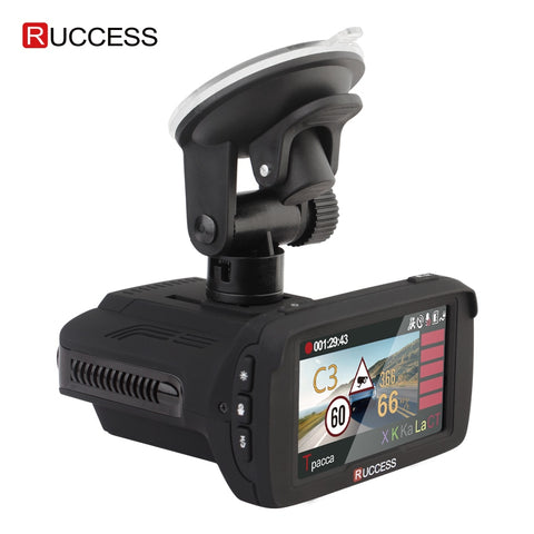 "RUCCESS 2.7"" Anti Car Radar Detector for Russia with GPS Police Radar Camera 170 Degree CAR DVR Full HD 1080P Video Recorder"