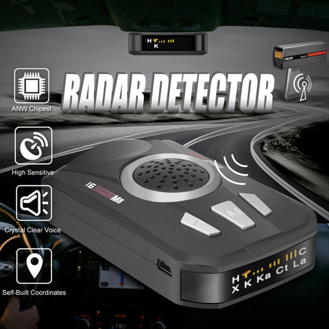 12V Vehicle Speed Detection Radar Detector LED Display Voice Alarm Speed Testing System Tool Car Anti Radars Police Speed Radar