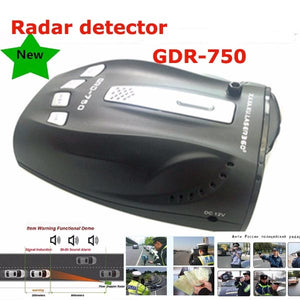 Best Car Radar Detector GDR-750 Voice Alert Car Speed Alarm System 360 Degree Detection VG-2 Immunity City and Highway Mode