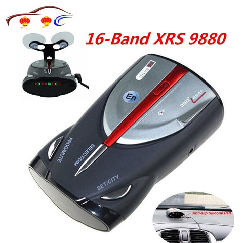 2020 12V 16-Band Cobra XRS 9880 Laser Anti Radar Car Detector 360 Angel Led Display Support English And Russian Voice
