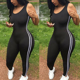 New Bodysuits Women Romper Women Striped Tight Romper One Piece Leggings Pants Jumpsuit Athletic Romper