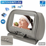Universal 7 inch Car Headrest MP4 Monitor / Multi media Player / Seat back MP4 / USB SD MP3 MP5 FM Built-in Speakers