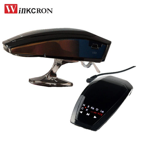 With (Russian/English) Voice Touch Panel VB-2 Radar Laser Car detector 360 Degree DC-12V Anti Radar Detector Vehicle Speed