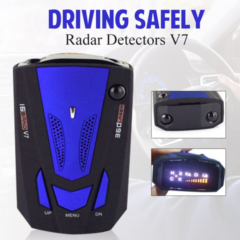 Car Radar Detector Auto 360 Degree Vehicle Speed Voice Alert Alarm Warning City/Highway Mode Car Speed Alarm System LED Display