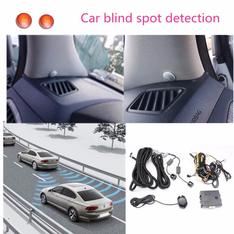 Car Blind Spot Mirror Radar Detection System BSD BSA BSM Microwave Blind Spot Monitor Radar Detectors with Alarm and LED for car