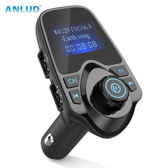 ANLUD Bluetooth Wireless Car Mp3 Player Handsfree Car Kit FM Transmitter A2DP 5V 2.1A USB Charger LCD Display Car FM Modulator - DRE's Electronics and Fine Jewelry: Online Shopping Mall