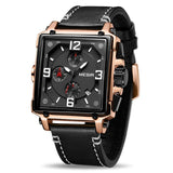 MEGIR Creative Men Watch Top Brand Luxury Chronograph Quartz Watches Clock Men Leather Sport Army Military Wrist Watches Saat - DRE's Electronics and Fine Jewelry: Online Shopping Mall