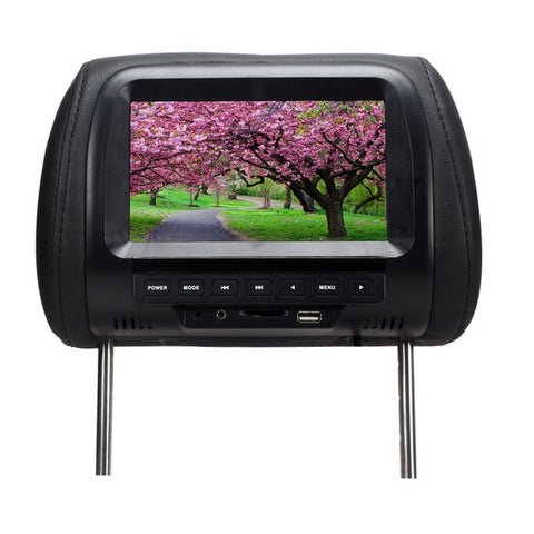 7 inch TFT LED Screen Video Player Universal Car Headrest Monitor Beige/Gray/Black  AV USB SD MP5 FM Built-in Speaker SH7038-MP5