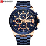 Relogio Masculino CURREN Men Watches To Luxury Brand Business Steel Quartz Watch Casual Waterproof Male Wristwatch Chronograph - DRE's Electronics and Fine Jewelry: Online Shopping Mall