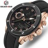 Men Watch Luxury Brand OLDENHOUR Fashion Analog Digital Sports Mens Watches Waterproof Silicone Quartz Watch Relogio Masculino - DRE's Electronics and Fine Jewelry: Online Shopping Mall