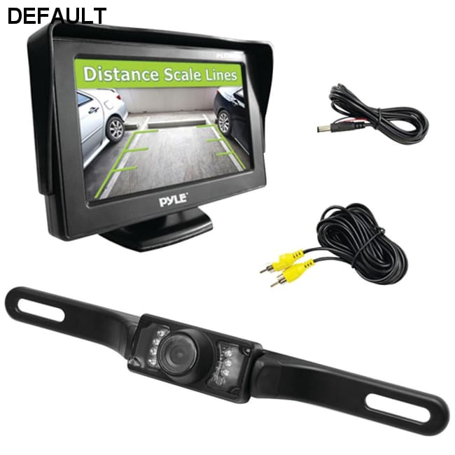 Pyle(R) PLCM46 4.3 Monitor & Backup Swivel-Angle Adjustable Camera System with Distance-Scale Lines & Parking Assist
