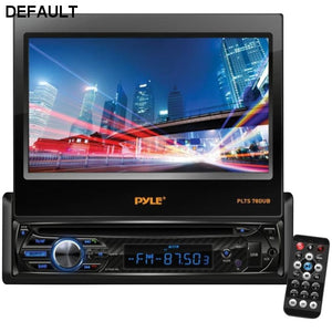 "Pyle(R) PLTS78DUB 7"" Single-DIN In-Dash DVD Receiver with Motorized Fold-out Touchscreen & Bluetooth(R) - DRE's Electronics and Fine Jewelry: Online Shopping Mall"