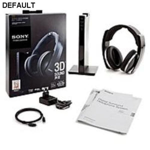 Sony MDR-DS6500 Wireless Surround Digital Headphones - 2.4 GHz - 12-22000 Hz - 3.5mm / Digital Optical / Composite Connectors - Black