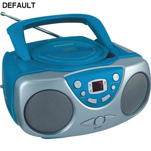 SYLVANIA(R) SRCD243M BLUE Portable CD Boom Box with AM/FM Radio (Blue) - DRE's Electronics and Fine Jewelry: Online Shopping Mall