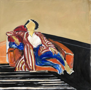 "Kevin Perkins - ""Figure On Orange Couch"""