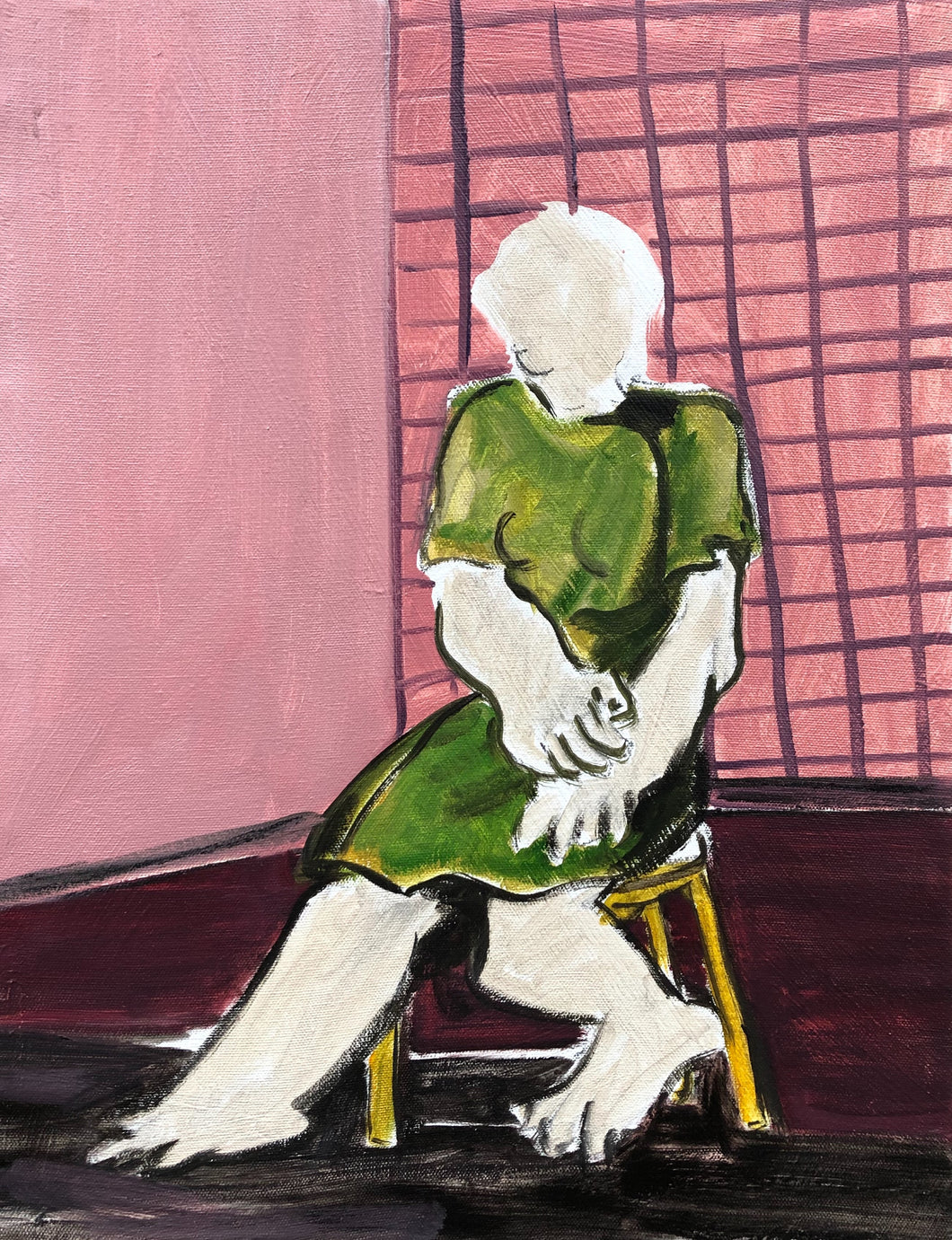 "Kevin Perkins - ""Seated Figure in Green"""