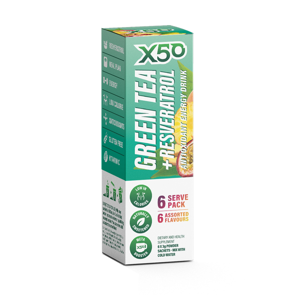 Miscellaneous Flavors Experience Green Tea X50 Natural Chamomile Accelerating Metabolism Formula 20 times Green Tea Essence Super Antioxidant Resveratrol (6 Pack)