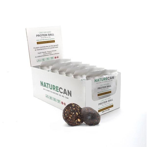 Naturecan CBD Infused Protein Balls - Chocolate (Box of 6)