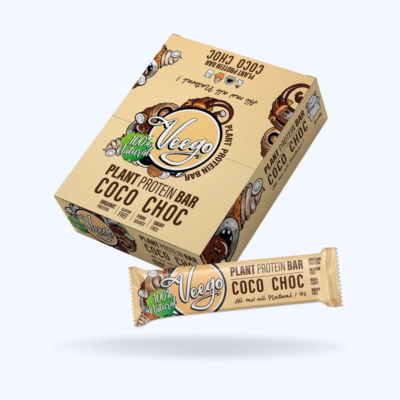 Veego 100% Natural Plant Protein Bar 高蛋白素食 營養代餐棒 (一盒 10條)