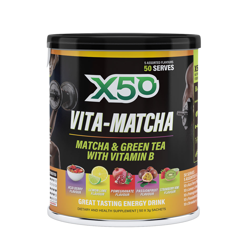 X50 Vita Matcha Vital Matcha Australia Develops a New Generation of Healthy Sports Energy Drinks (Compiled Bars Limited Edition)