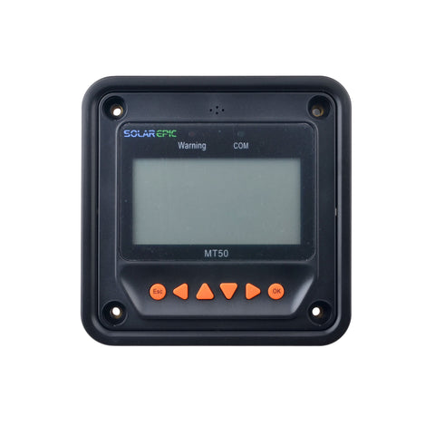 SolarEpic MT50 LCD Remote Meter Suitable For Tracer-AN/Tracer-BN Charge Controller