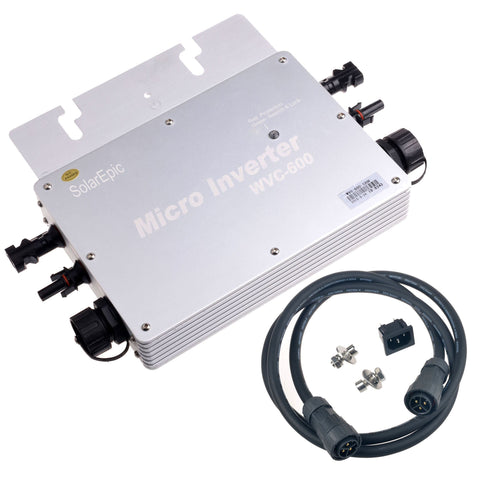 MPPT 600W Waterproof Grid Tie Inverter DC22-50V Pure Sine Wave Inverter 110/220V