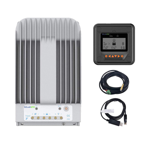 40A MPPT NEW Tracer 4215BN 150V Solar Charge Controller 12 24 V Remote LCD