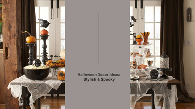 Halloween Decor Ideas: Stylish & Spooky