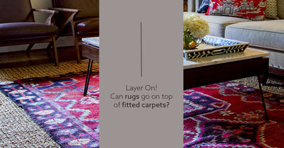 Layer on! 3 ways to make rug on carpet look good