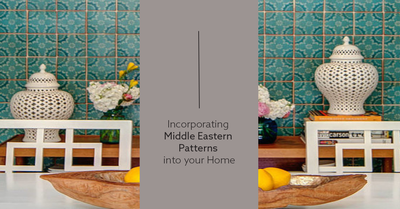 Incorporating Middle Eastern Patterns into your Home.